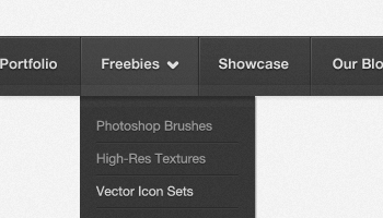 Simple Dark Navigation Menu (PSD)