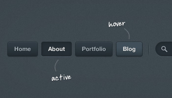 Dark Button Navigation (PSD)