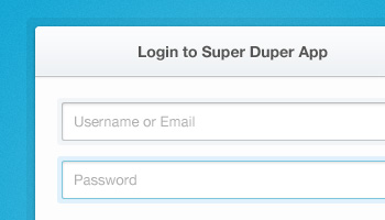 Clean & Simple Login Form (PSD)