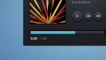 Music Player Skin (PSD)