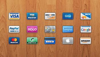 Mini Cards: 15 Credit/Debit Card Icons