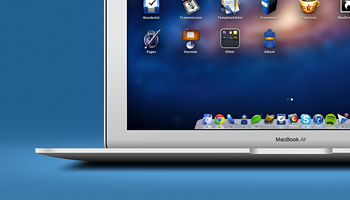 Fully Layered Macbook Air (PSD)